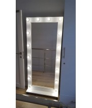 Гримерное зеркало с подсветкой на подставке 175х80 лдсп эконом