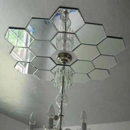 Зеркальное панно на потолок соты