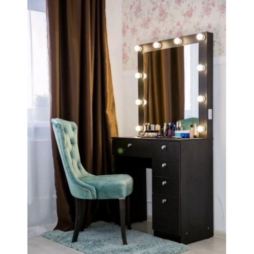 Макияжный столик Жанна с зеркалом и подсветкой 80х80